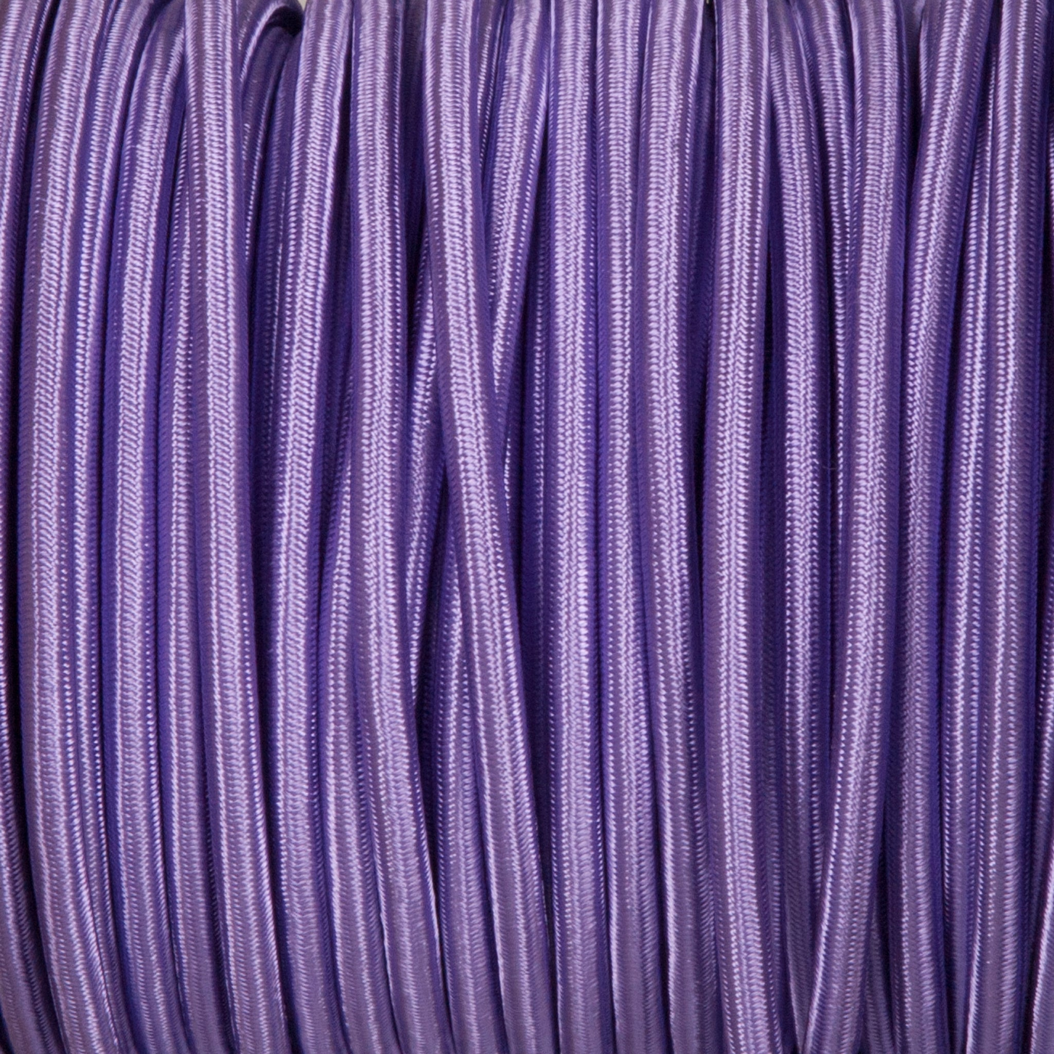 Round lighting cable - Purple braided fabric