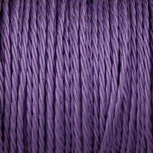 Twisted lighting cable - Purple Braided fabric