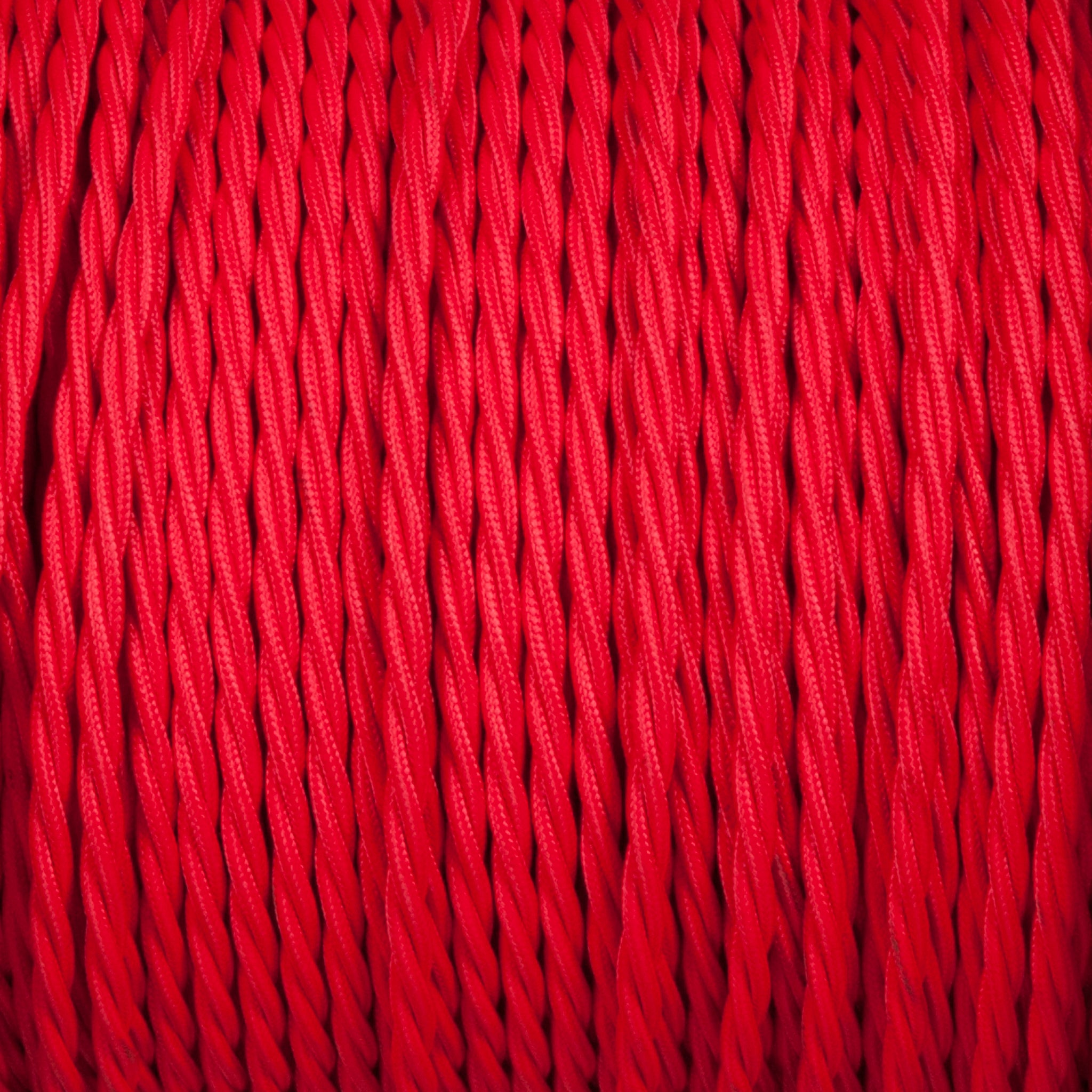Twisted lighting cable - Red Braided fabric