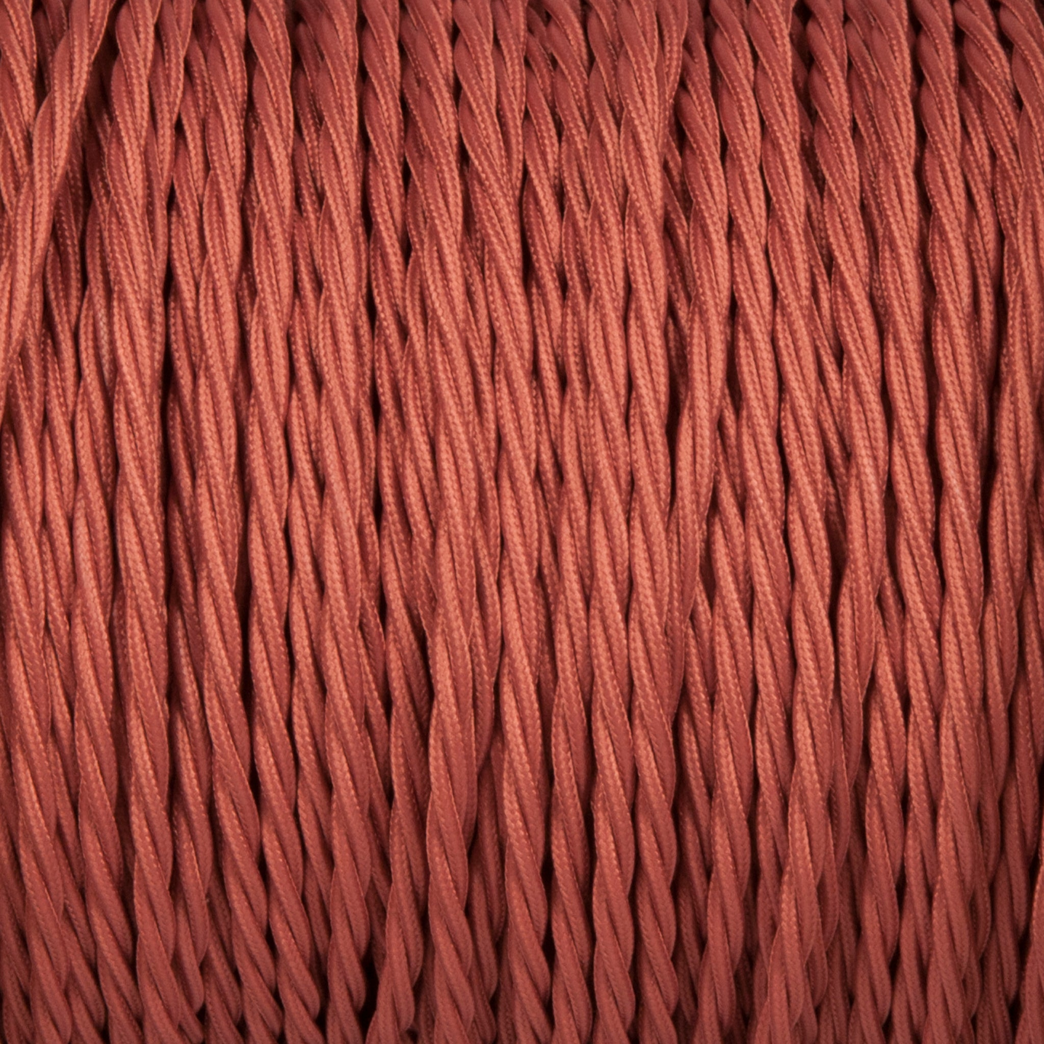 Twisted lighting cable - Rose pink Braided fabric