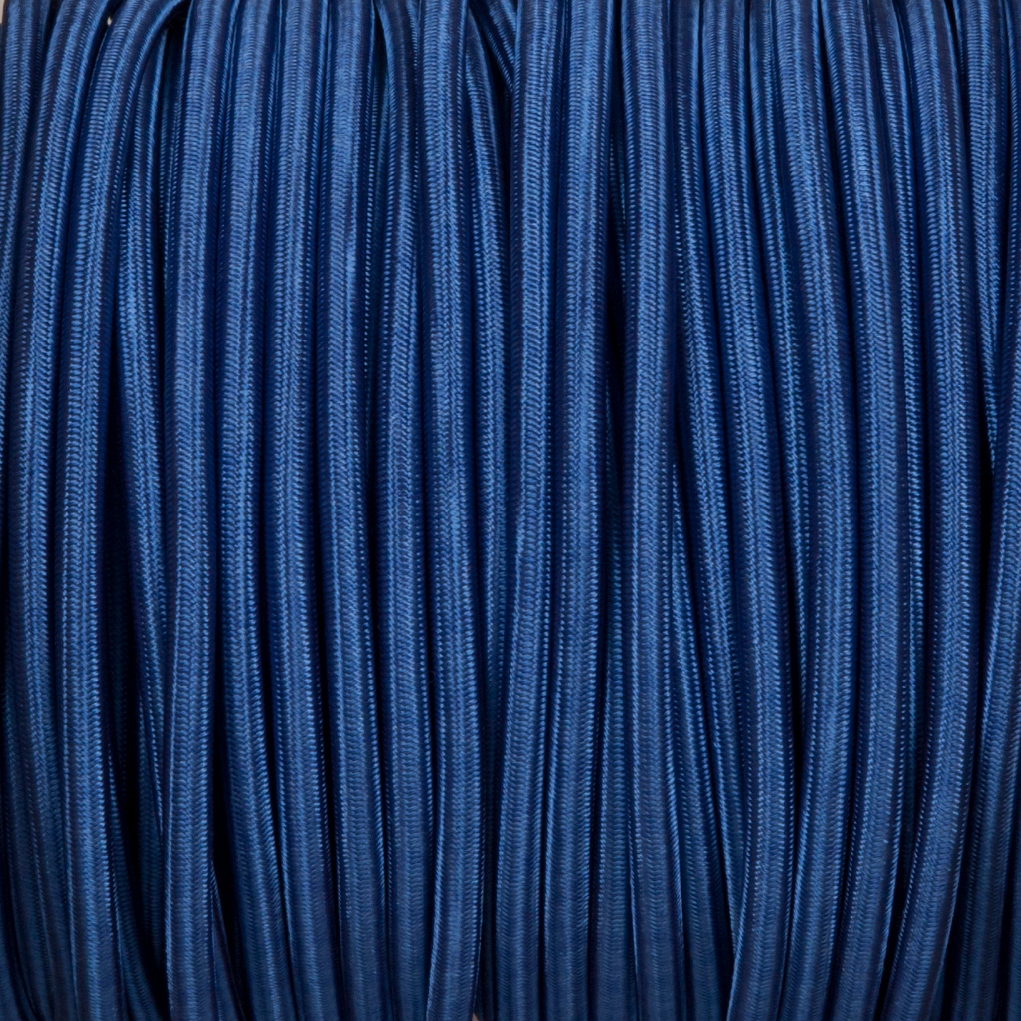 Round lighting cable - Royal blue braided fabric
