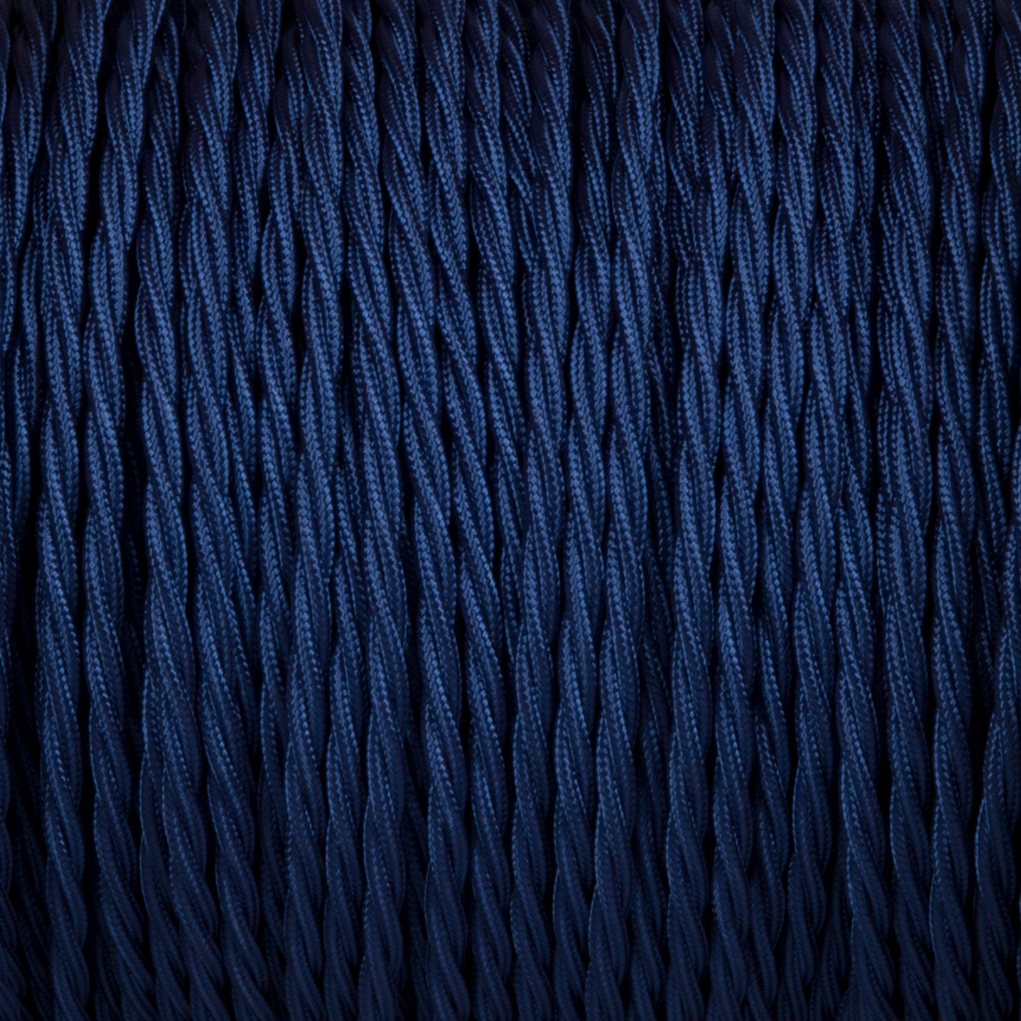 Twisted lighting cable - Royal blue braided fabric