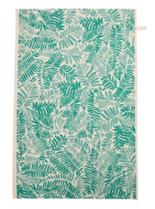Tropical Leaf Print Tea Towel