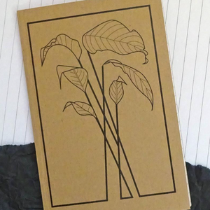 Leaf Design, Nature Lover A6 Notebook