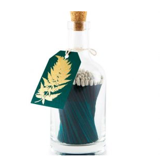 Gold Fern Luxury Bottle of Green Matches