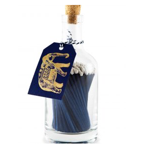 Elephant Luxury Bottle of Blue Matches