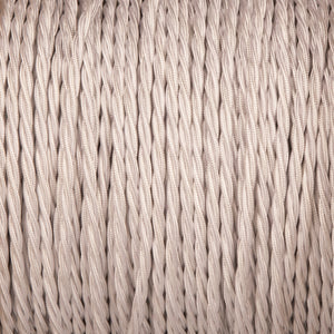 Twisted lighting cable - Silver braided fabric