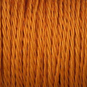 Twisted lighting cable - Souci gold braided fabric