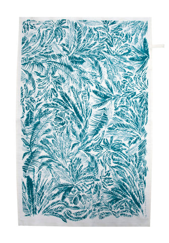 Teal Tropic Tea Towel