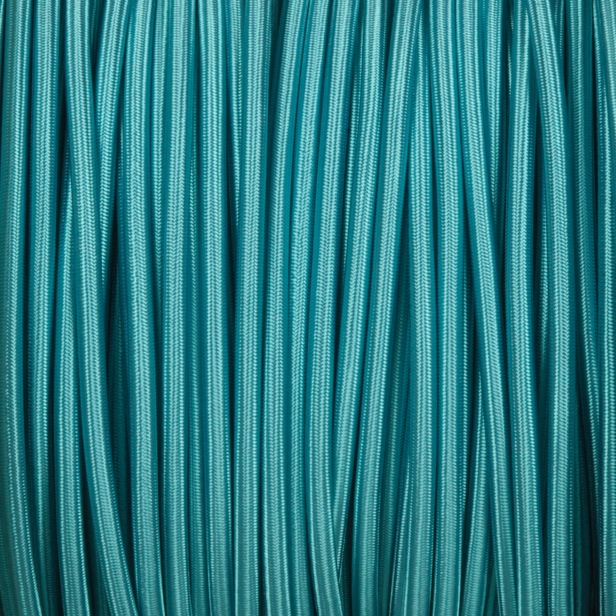 Round lighting cable - Turquoise blue braided fabric