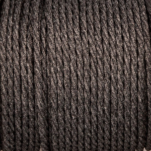 Twisted lighting cable - Uniform grey braided fabric