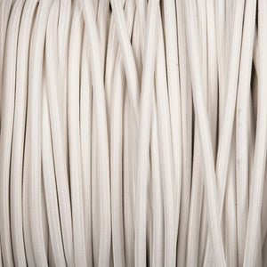 Round lighting cable - White braided fabric