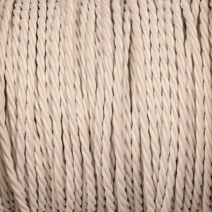 Twisted lighting cable - White braided fabric