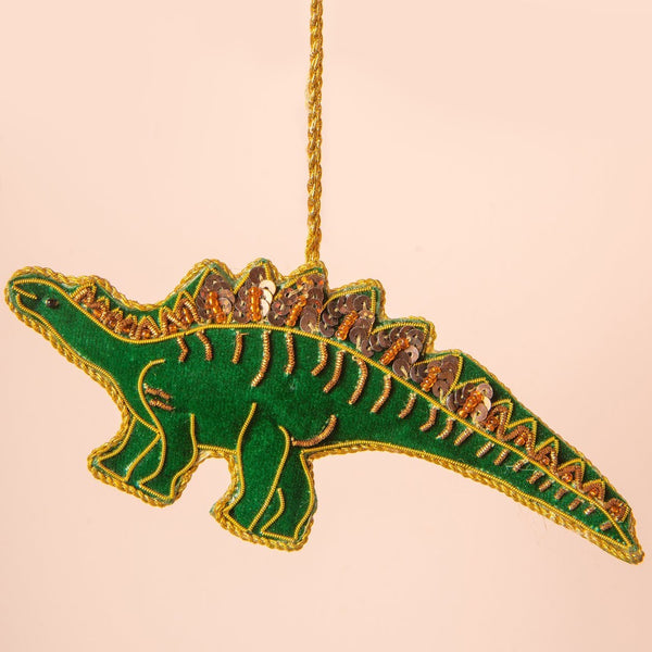 Hand Embroidered Dinosaur Decoration
