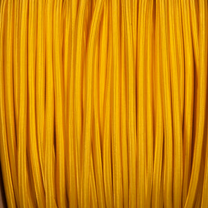 Round lighting cable - Yellow braided fabric