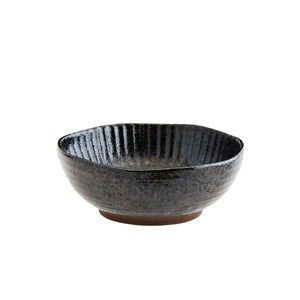 Black Stoneware Bowl