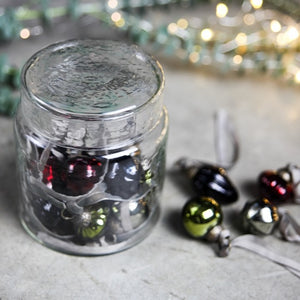 Glass Baubles in a Sweets Jar - Mixed