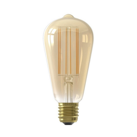 LED Edison Long Filament Bulb E27 4 watt Gold