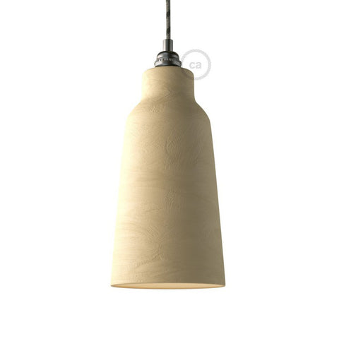 Washed Stone Bottle Shaped Ceramic Lampshade
