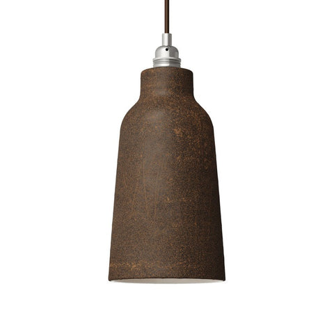 Rust Bottle Shaped Ceramic Lampshade