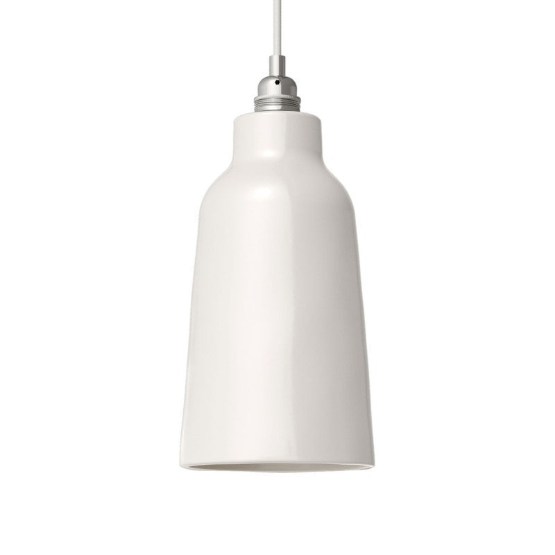 White Bottle Shaped Ceramic Lampshade