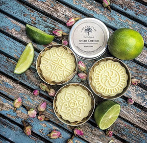 Rose & Lime Solid Lotion Bar