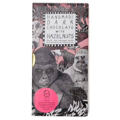 Arthouse Meath Gorillas Handmade Dark Chocolate with Hazelnuts