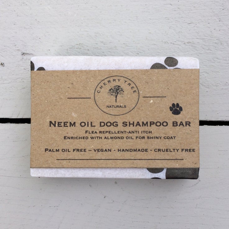 Vegan Neem Oil Dog Shampoo Bar