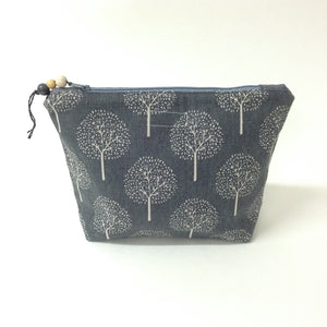 Pink Tweed Pouch - Large