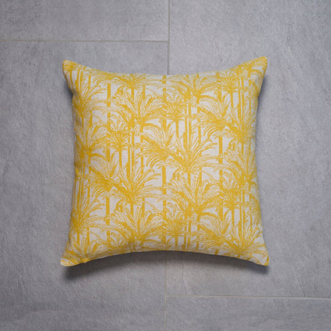 Mustard Palms Cushion 45 x 45cm