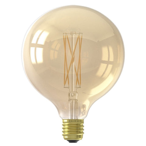 Calex LED Large Gold tinted G125 globe bulb 320lm 4w