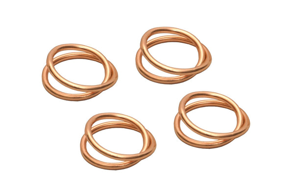 Copper napkin rings set of 4