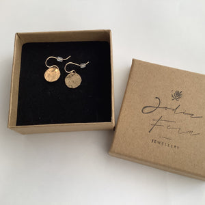 Circle Disc Gold Filled Earrings