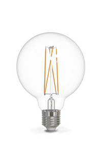 Calex LED Medium Clear G95 globe bulb 500Lm
