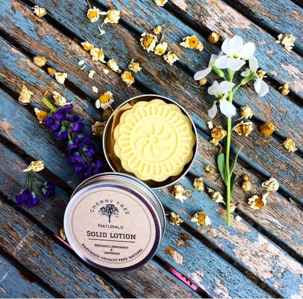 Patchouli, Bergamot and Lavender Solid Lotion Bar