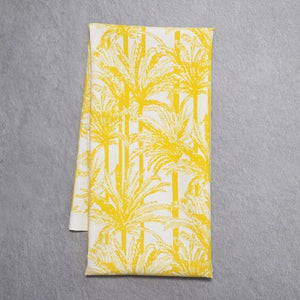 Mustard Palm print Tea Towel
