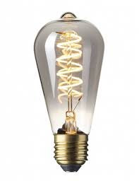 Calex LED Titanium Edison bulb Spiral Filament E27 fitting