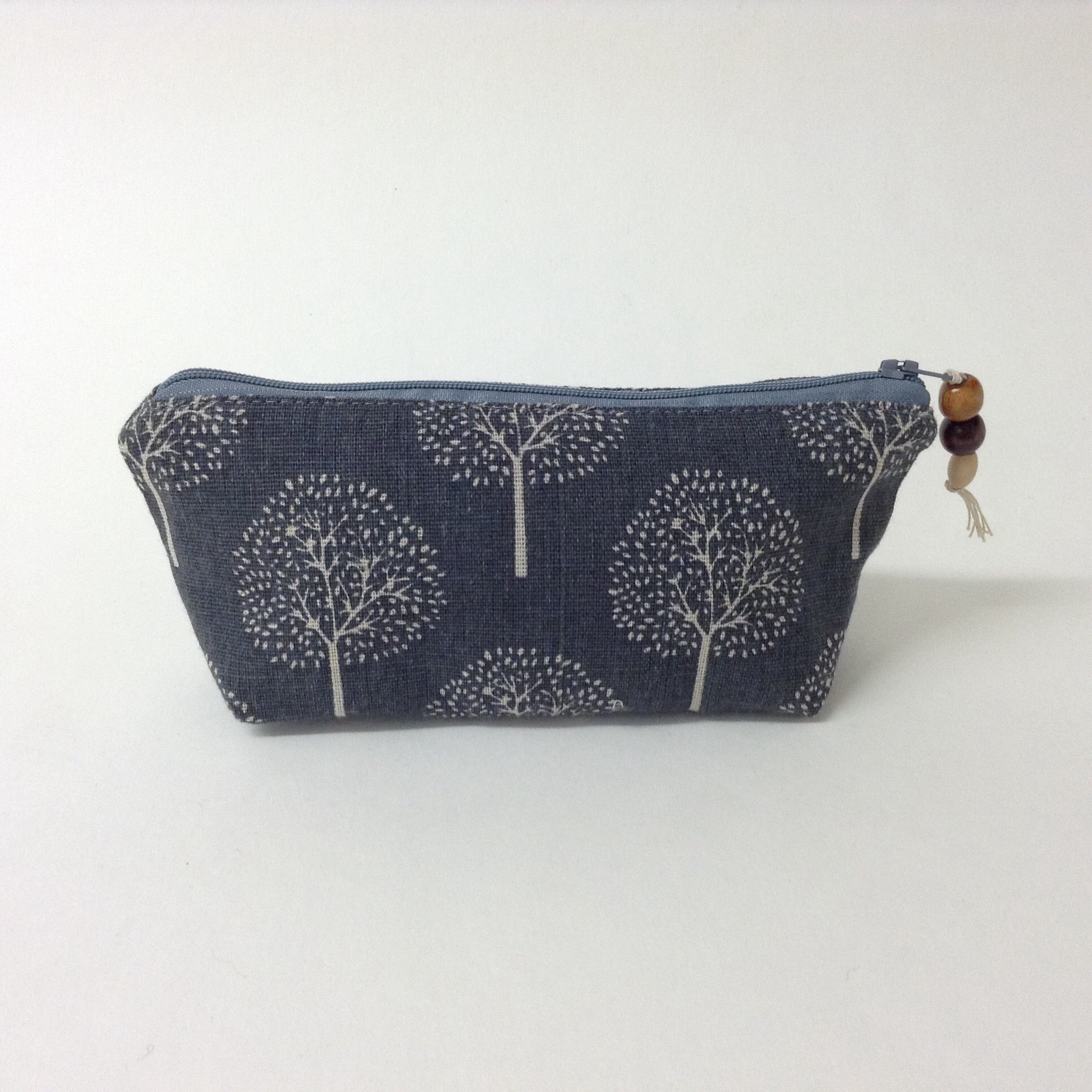Grey Tree Print Pouch
