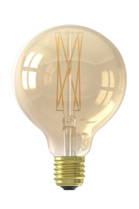 LED Medium Gold Tinted G95 globe bulb E27 320lm 4w