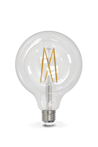 LED Large Clear G125 Globe Bulb 500lm 6w