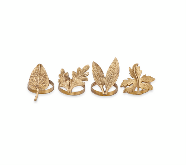 Leaf Napkin rings set of 4