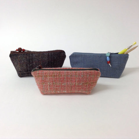 Tweed Pencil Cases