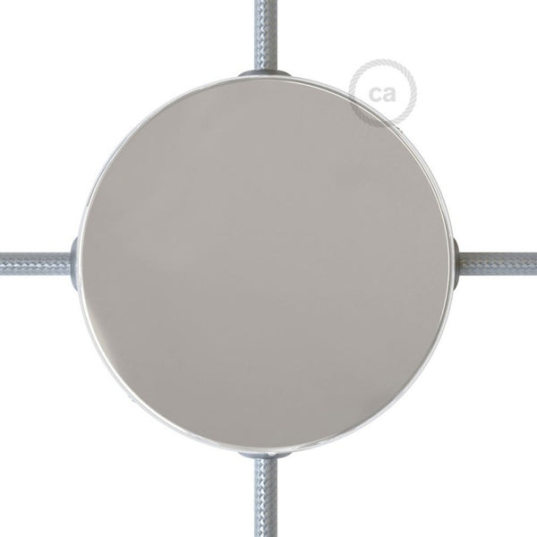 Chrome Ceiling Rose with 4 Side Holes