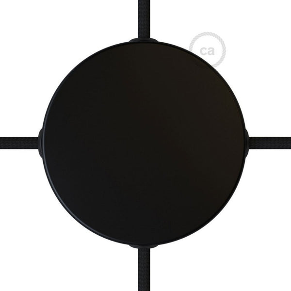 Matt Black Ceiling Rose with 4 Side Holes