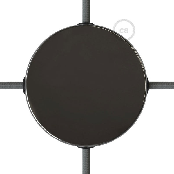 Black Pearl Ceiling Rose with 4 Side Holes