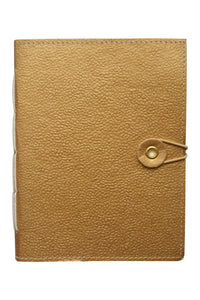 Hand stitched notebook - Gold   20% OFF