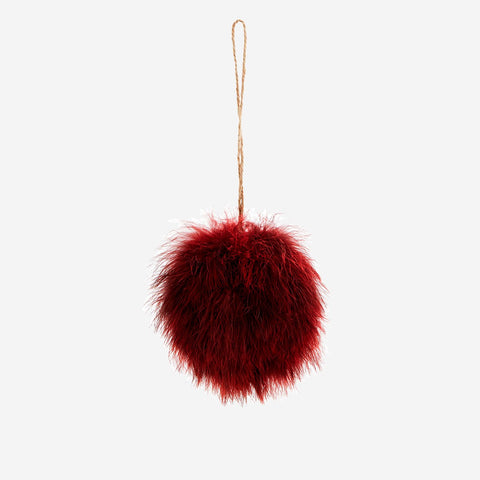 Fluffy Feather ball - Bordeaux colours   20% OFF