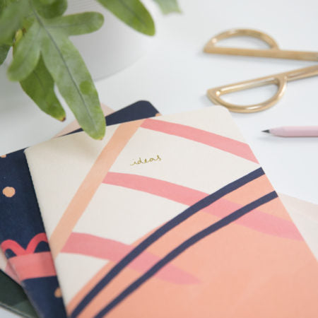Recycled Soft Cover A5 Sketchbook – Ideas Pink