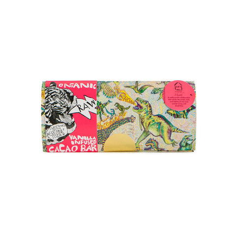 Dinosaurs RAW Organic Vanilla Infused Cacao Bar (vegan)