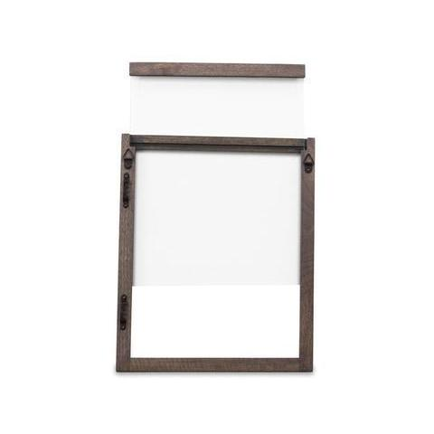 Double sided glass wooden frame